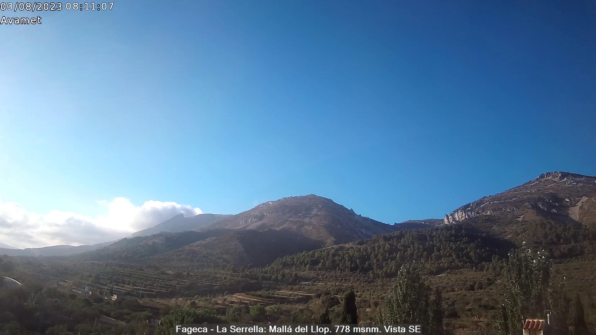 Webcam des de Fageca amb vistes Serrella